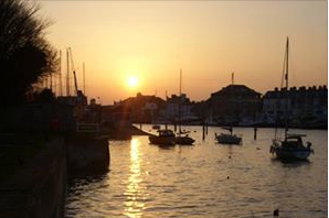 Sunset over Weymouth Harbour
